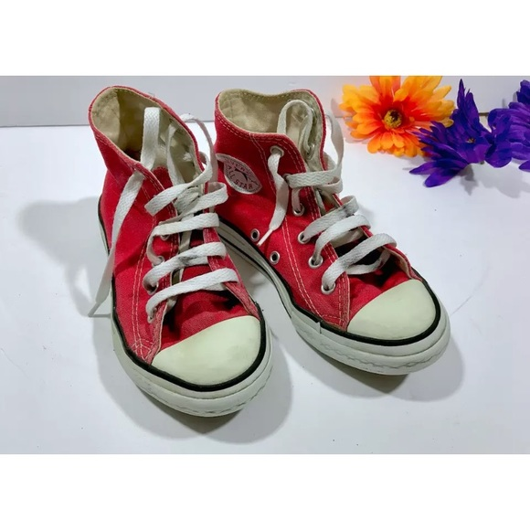 converse red high top boys
